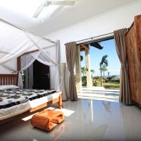 The holiday villa in Bali has three spacious bedrooms.