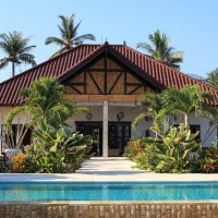 Holiday villa with swimming pool in north Bali.