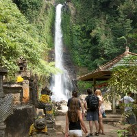 A waterfall in Bali.