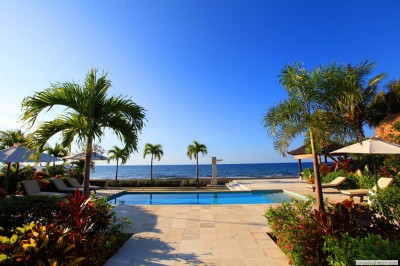 Swimming pool and Bali sea