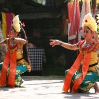 Bali dancers perform traditional dancing.