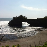 A temple on a cliff over the Bali sea.