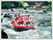 Spectacular rafting trip in Bali.