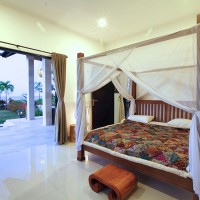 Each bedroom holiday villa in Bali has a ceiling fan and air conditioning.