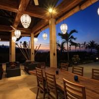 On the terrace enjoying the nightfall in Bali.