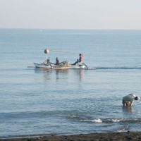 Fishermen on the Bali sea.