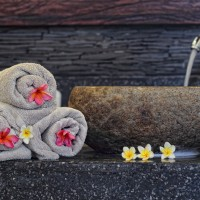 The towels in the holiday villa in Bali are very regularly changed.