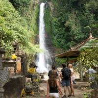 A waterfall in Bali.