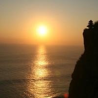 The setting of the sun in the Bali Sea.